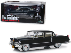 "1955 Cadillac Fleetwood Series 60 Black ""The Godfather"" (1972) Movie 1/24 Diecast Model Car by Greenlight"