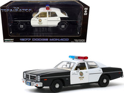 "1977 Dodge Monaco ""Metropolitan Police"" Black and White ""The Terminator"" (1984) Movie 1/24 Diecast Model Car by Greenlight"
