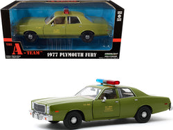 "1977 Plymouth Fury ""U.S. Army Military Police"" Army Green ""The A-Team"" (1983-1987) TV Series 1/24 Diecast Model Car by Greenlight"