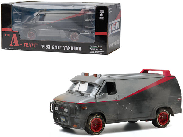 "1983 GMC Vandura Van Weathered Version with Bullet Holes ""The A-Team"" (1983-1987) TV Series 1/24 Diecast Model by Greenlight"