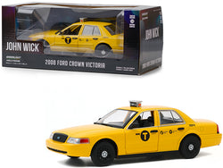 "2008 Ford Crown Victoria ""NYC Taxi"" Yellow ""John Wick: Chapter 2"" (2017) Movie 1/24 Diecast Model Car by Greenlight"