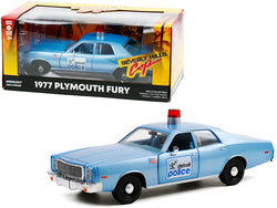 "1977 Plymouth Fury ""Detroit Police"" Light Blue ""Beverly Hills Cop"" (1984) Movie 1/24 Diecast Model Car by Greenlight"