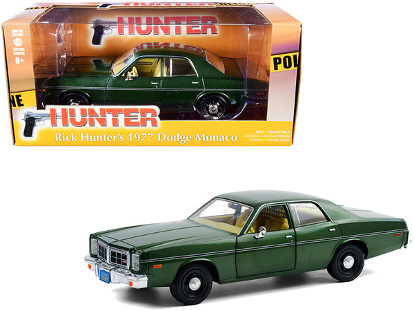 "1977 Dodge Monaco Green Metallic (Rick Hunter's) ""Hunter"" (1984-1991) TV Series 1/24 Diecast Model Car by Greenlight"