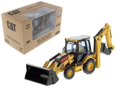 CAT Caterpillar 432E Side Shift Backhoe Loader with Operator Core Classics Series 1/50 Diecast Model by Diecast Masters