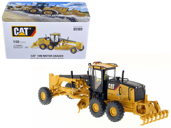 CAT Caterpillar 14M Motor Grader with Operator High Line Series 1/50 Diecast Model by Diecast Masters