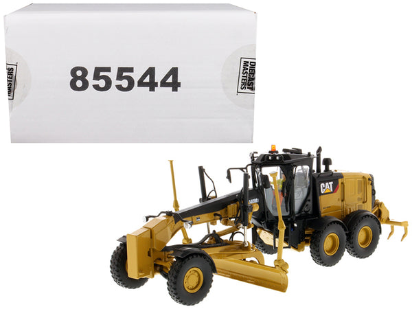 CAT Caterpillar 140M3 Motor Grader with Operator High Line Series 1/50 Diecast Model by Diecast Masters