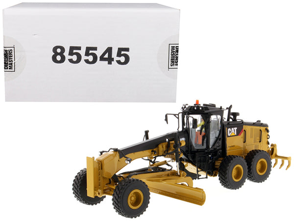 CAT Caterpillar 14M3 Motor Grader with Operator High Line Series 1/50 Diecast Model by Diecast Masters