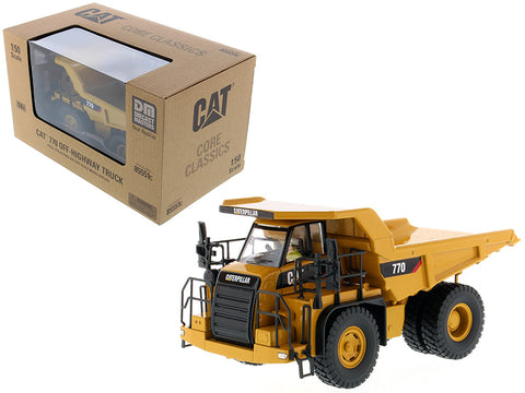 CAT Caterpillar 770 Off Highway Dump Truck with Operator Core Classics Series 1/50 Diecast Model by Diecast Masters