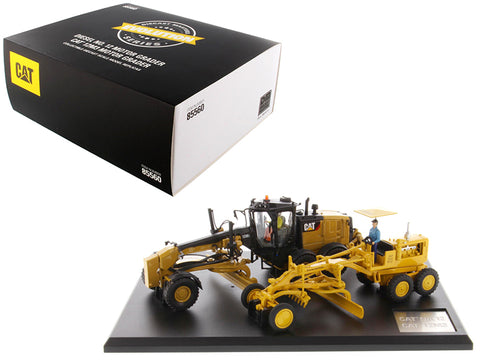 Cat Caterpillar No. 12 Motor Grader (Circa 1939-1959) and Cat Caterpillar 12M3 Motor Grader (Current) with Operators Evolution Series (2 Piece Set) 1/50 Diecast Models by Diecast Masters
