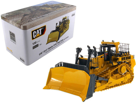 Cat Caterpillar D11T Track-Type Tractor Dozer JEL Design with Operator High Line Series 1/50 Diecast Model by Diecast Masters