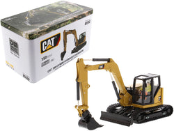 CAT Caterpillar 309 CR Next Generation Mini Hydraulic Excavator with Work Tools and Operator High Line Series 1/50 Diecast Model by Diecast Masters
