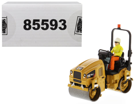 CAT Caterpillar CB-2.7 Utility Compactor with Operator High Line Series 1/50 Diecast Model by Diecast Masters