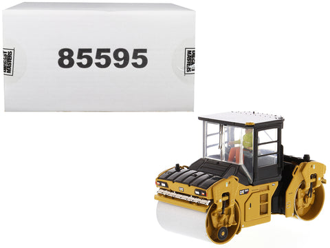 CAT Caterpillar CB-13 Tandem Vibratory Roller with Cab and Operator High Line Series 1/50 Diecast Model by Diecast Masters
