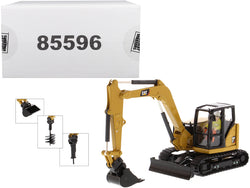 CAT Caterpillar 308 CR Next Generation Mini Hydraulic Excavator with Work Tools and Operator High Line Series 1/50 Diecast Model by Diecast Masters