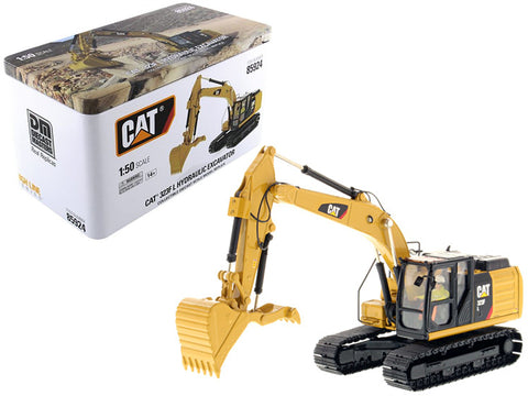 CAT Caterpillar 323F L Hydraulic Excavator with Thumb and Operator High Line Series 1/50 Diecast Model by Diecast Masters