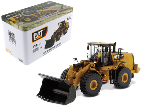CAT Caterpillar 972M Wheel Loader with Operator High Line Series 1/50 Diecast Model by Diecast Masters