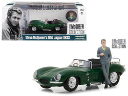 "1957 Jaguar XKSS Green with Steve McQueen Figurine ""Steve McQueen Collection"" (1930-1980) 1/43 Diecast Model Car by Greenlight"