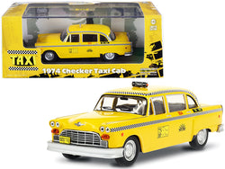 "1974 Checker Taxi Cab #804 Yellow ""Sunshine Cab Company"" ""Taxi"" (1978-1983) TV Series 1/43 Diecast Model Car by Greenlight"