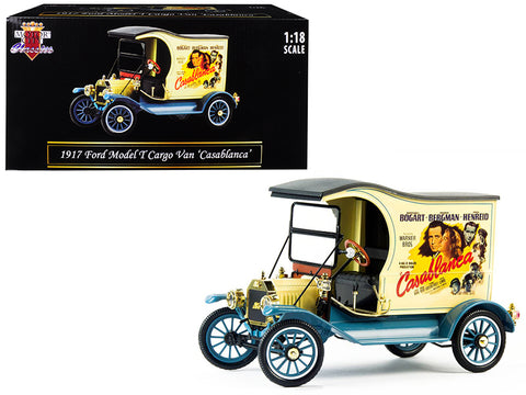 "1917 Ford Model T Cargo Van ""Casablanca"" (1942) Movie 1/18 Diecast Model Car by Motorcity Classics"