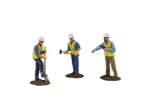 Diecast Metal Construction Figures (3pc Set) #2 1/50 by First Gear