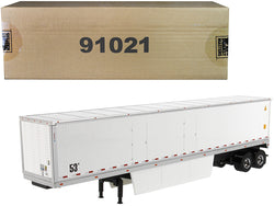 "53' Dry Cargo Van Trailer White ""Transport Series"" 1/50 Diecast Model by Diecast Masters"