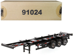 "40' Skeleton Trailer Black ""Transport Series"" 1/50 Diecast Model by Diecast Masters"