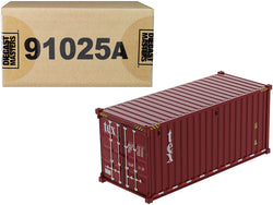 "20' Dry Goods Sea Container ""TEX"" Burgundy ""Transport Series"" 1/50 Model by Diecast Masters"