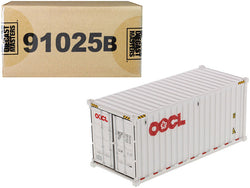 "20' Dry Goods Sea Container ""OOCL"" White ""Transport Series"" 1/50 Model by Diecast Masters"
