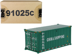 "20' Dry Goods Sea Container ""China Shipping"" Green ""Transport Series"" 1/50 Model by Diecast Masters"