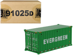 "20' Dry Goods Sea Container ""EverGreen"" Green ""Transport Series"" 1/50 Model by Diecast Masters"
