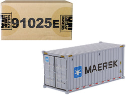 "20' Dry Goods Sea Container ""MAERSK"" Gray ""Transport Series"" 1/50 Model by Diecast Masters"
