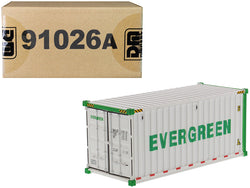 "20' Refrigerated Sea Container ""EverGreen"" White ""Transport Series"" 1/50 Model by Diecast Masters"