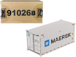 "20' Refrigerated Sea Container ""MAERSK"" White ""Transport Series"" 1/50 Model by Diecast Masters"