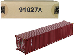 "40' Dry Goods Sea Container ""TEX"" Burgundy ""Transport Series"" 1/50 Model by Diecast Masters"
