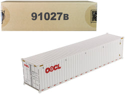 "40' Dry Goods Sea Container ""OOCL"" White ""Transport Series"" 1/50 Model by Diecast Masters"