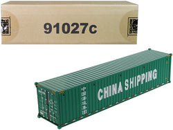 "40' Dry Goods Sea Container ""China Shipping"" Green ""Transport Series"" 1/50 Model by Diecast Masters"