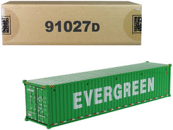 "40' Dry Goods Sea Container ""EverGreen"" Green ""Transport Series"" 1/50 Model by Diecast Masters"