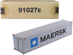 "40' Dry Goods Sea Container ""MAERSK"" Gray ""Transport Series"" 1/50 Model by Diecast Masters"