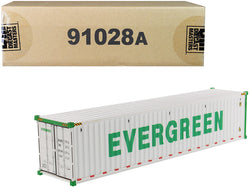 "40' Refrigerated Sea Container ""EverGreen"" White ""Transport Series"" 1/50 Model by Diecast Masters"