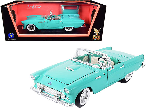 1955 Ford Thunderbird Convertible Turquoise 1/18 Diecast Model Car by Road Signature