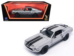 1968 Shelby Mustang GT 500KR Matte Chrome 1/18 Diecast Model Car by Road Signature