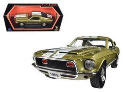 1968 Ford Shelby Mustang GT500KR Gold 1/18 Diecast Model Car by Road Signature