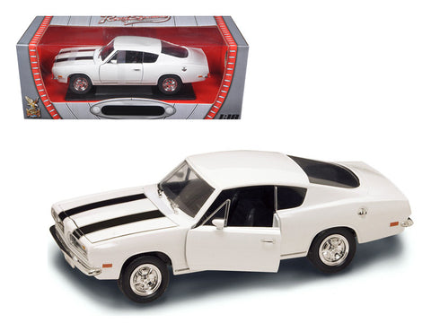 1969 Plymouth Barracuda 383 White 1/18 Diecast Model Car by Road Signature