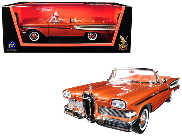 1958 Edsel Citation Convertible Brown 1/18 Diecast Model Car by Road Signature