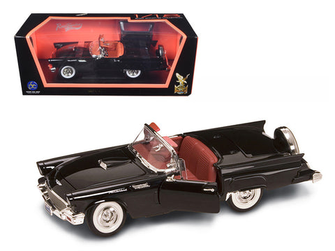 1957 Ford Thunderbird Black 1/18 Diecast Model Car by Road Signature