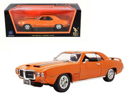 1969 Pontiac Firebird Trans Am Orange 1/18 Diecast Model Car by Road Signature