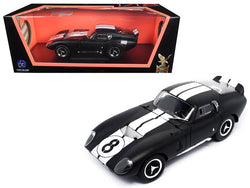1965 Shelby Cobra Daytona Coupe #8 Matte Black 1/18 Diecast Model Car  by Road Signature