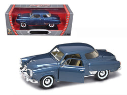 1950 Studebaker Champion Blue 1/18 Diecast Model Car by Road Signature