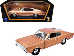 1966 Dodge Charger Bronze Metallic 1/18 Diecast Model Car by Road Signature