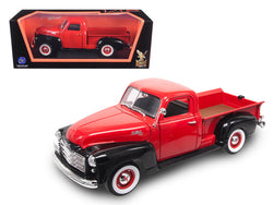 1950 GMC Pickup Truck Red/Black 1/18 Diecast Model by Road Signature